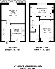 Large floorplan for Milton Grove, Stoke Newington, N16