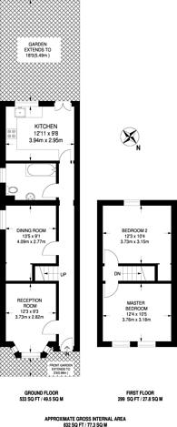 Large floorplan for Cumberland Road, Wood Green, N22