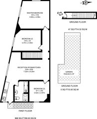 Large floorplan for Oakwood Avenue, Mitcham, CR4