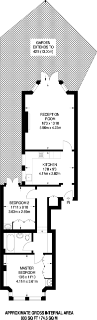 Large floorplan for Beckwith Road, North Dulwich, SE24