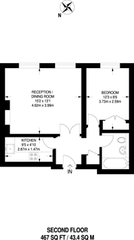 Large floorplan for Harrington Gardens, South Kensington, SW7