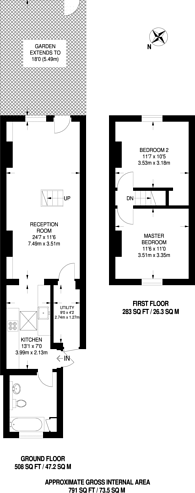 Large floorplan for Spencer Place, Croydon, CR0