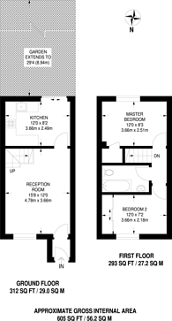 Large floorplan for Kelvin Gardens, Croydon, CR0