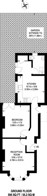 Large floorplan for Bensham Manor Road, Thornton Heath, CR7