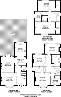 Large floorplan for Lenham Road, Sutton, SM1