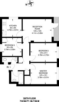 Large floorplan for Treverton Street, North Kensington, W10