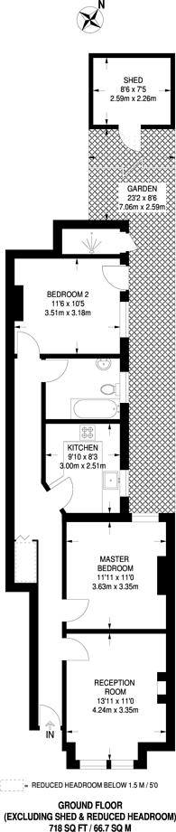 Large floorplan for Bickley Street, Tooting Graveney, SW17