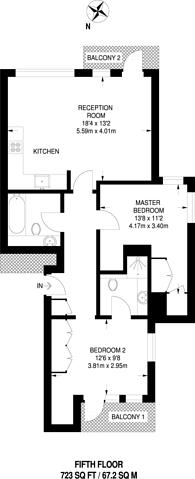 Large floorplan for Renaissance Walk, Greenwich Millennium Village, SE10