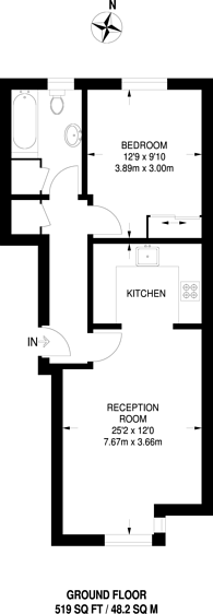 Large floorplan for Berthon Street, Deptford, SE8