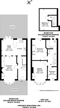 Large floorplan for Wilson Gardens, West Harrow, HA1