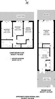Large floorplan for Northwood Way, Gipsy Hill, SE19