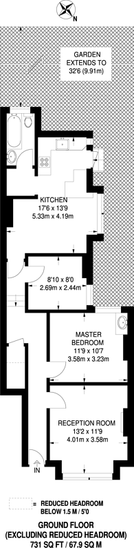 Large floorplan for Hythe Road, Thornton Heath, CR7