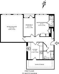 Large floorplan for Whittington Mews, North Finchley, N12