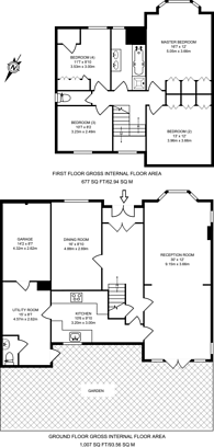 Large floorplan for Gibsons Hill, Streatham, SW16