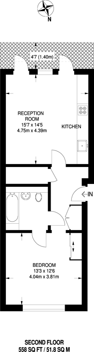 Large floorplan for Fiennes Building, Mill Hill East, NW7