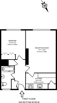 Large floorplan for Challice Way, Brixton, SW2