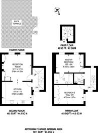 Large floorplan for Sutherland Street, Pimlico, SW1V