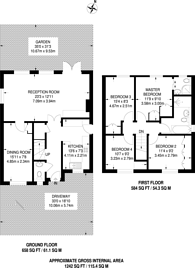 Large floorplan for Ditton Road, Southborough, KT6