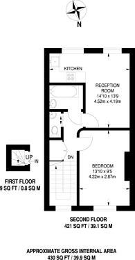 Large floorplan for Lower Richmond Road, West Putney, SW15