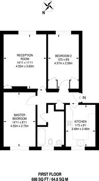 Large floorplan for Park Hall Road, West Dulwich, SE21