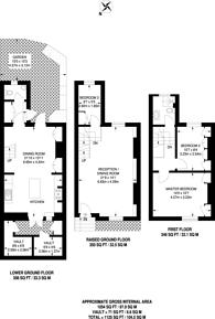 Large floorplan for Billing Street, Chelsea, SW10