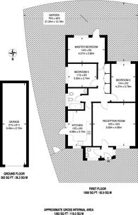 Large floorplan for Rushmoor Close, Stoughton, GU2
