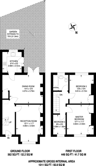 Large floorplan for The Crescent, Sutton, SM1