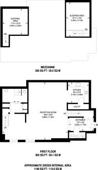 Large floorplan for Piper Building, Fulham, SW6