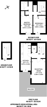 Large floorplan for Don Phelan Close, Camberwell, SE5