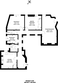 Large floorplan for Lauderdale Road, Maida Vale, W9