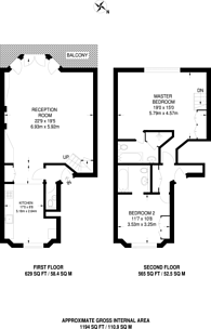 Large floorplan for Rosary Gardens, South Kensington, SW7