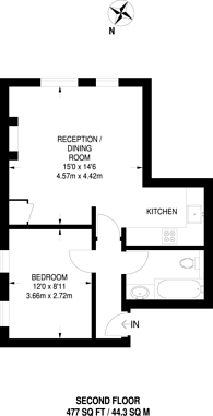 Large floorplan for Wandsworth Road, Battersea, SW8
