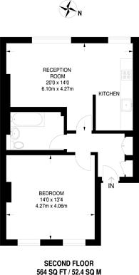 Large floorplan for Brixton Road, Brixton, SW9