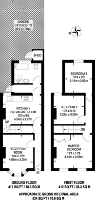 Large floorplan for Richford Road, Stratford, E15