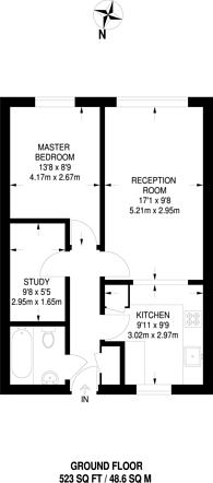 Large floorplan for Hanbury Street, Whitechapel, E1