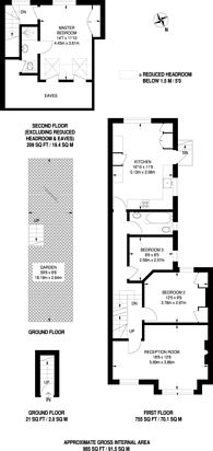 Large floorplan for Hartswood Road, Wendell Park, W12
