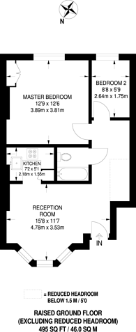 Large floorplan for Victoria Road, Kilburn, NW6