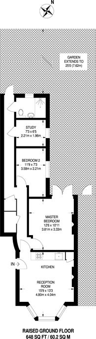 Large floorplan for Tavistock Road, Harlesden, NW10