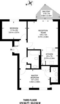 Large floorplan for Regents Park Road, Primrose Hill, NW1
