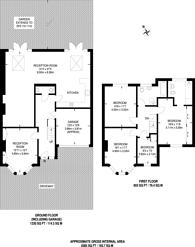 Large floorplan for Kidbrooke Park Road, Blackheath, SE3