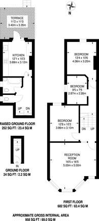 Large floorplan for Burgoyne Road, Harringay, N4