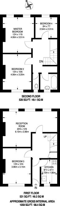 Large floorplan for Shooters Hill Road, Blackheath, SE3