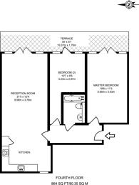Large floorplan for High Road, Bowes Park, N22