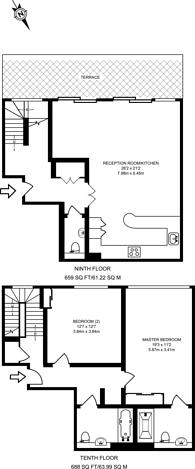 Large floorplan for Western Gateway, Royal Docks, E16