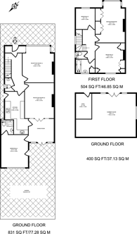 Large floorplan for Beresford Avenue, Berrylands, KT5
