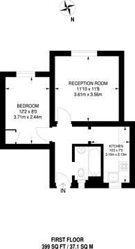 Large floorplan for Lansdowne Way, Stockwell, SW8