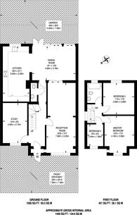 Large floorplan for Bridgewood Road, Worcester Park, KT4