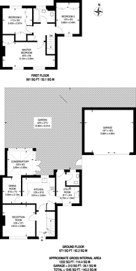 Large floorplan for The Chesters, New Malden, KT3