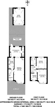 Large floorplan for Wickham Road, Harrow Weald, HA3
