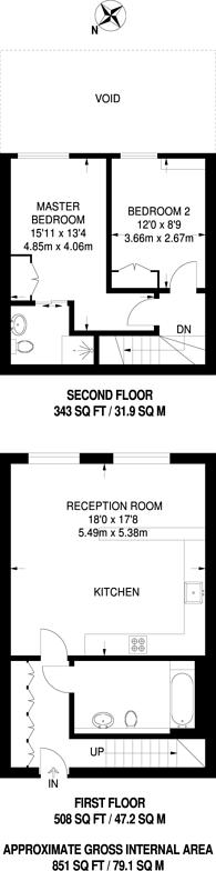 Large floorplan for Arthaus Apartments, London Fields, E8